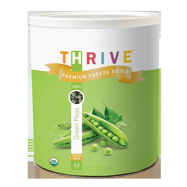 Organic Green Peas- Freeze Dried
